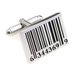 Classic cufflinks with retail barcode
