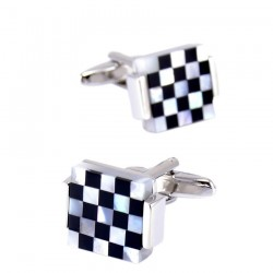 Trendy square lattice - cufflinks