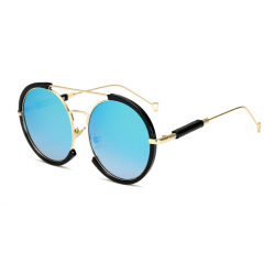 Oval vintage steampunk sunglasses