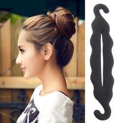 Hair styling twist styling bun hairpins hairdisk meatball head rubber clip