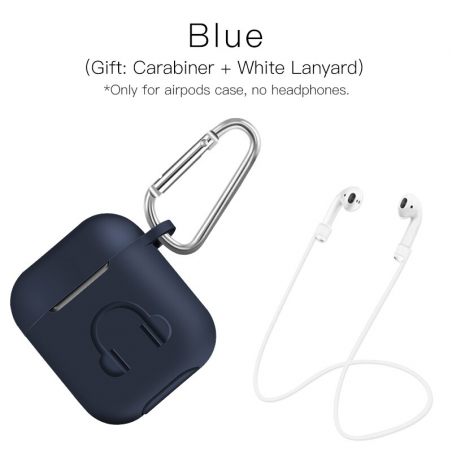Soft silicone earphone case for Apple AirPods with hook