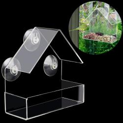 Transparent bird feeder