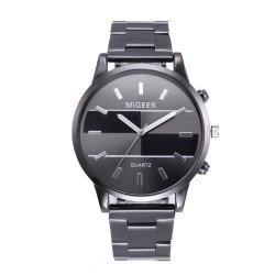 Fashion design - luxury stainless steel analog quartz watch