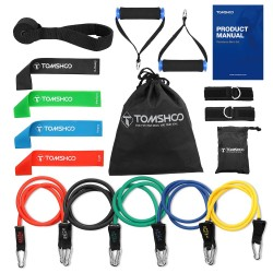 Yoga & fitness resistance bands - 17 pcs set with bag