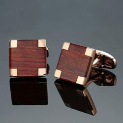 Elegant carbon fiber square cufflinks