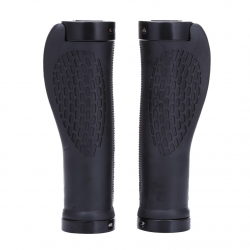 Anti-skid rubber handlebar grips for MTB bike - lock-on ends 2 pcs