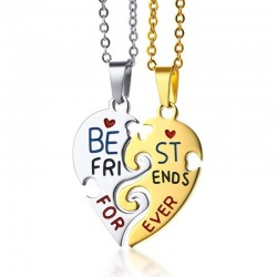 Best Friend Forever - stainless steel necklace 2 pcs