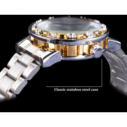 Transparent skeleton design - luminous display - mechanical watch