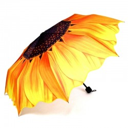 Sunflower design - rain & sun umbrella - folding