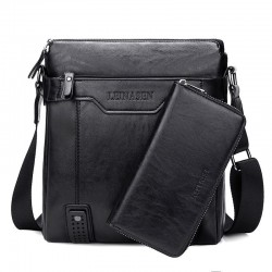 Modieuze leren crossbody & schoudertas met portemonnee*