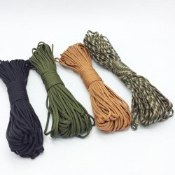 550 100ft 4mm parachute cord - camping survival rope 5m - 10m