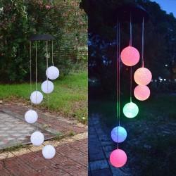LED solar powered wind chimes light - hanging balls - lamp