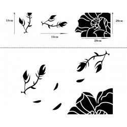 Wall sticker with butterfly - wallpaper DIY