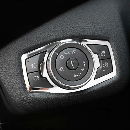 Stainless steel headlight switch cover for Ford Focus 3 MK3/4 Kuga Escape Explorer Mondeo Mustang