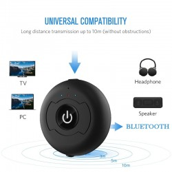 Audio 3.5mm multipoint stereo adapter - car wireless Bluetooth music transmitter for PC TV speaker
