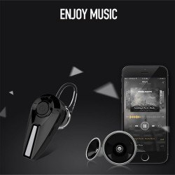 Mini Bluetooth headset - wireless invisible earphones with microphone & charging box