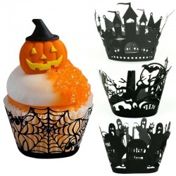 Halloween cupcakes & muffins covers - paper wrappers 12 pieces