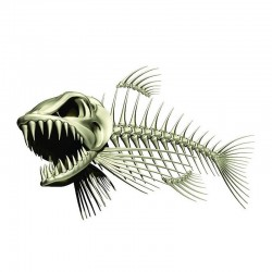 3D fish skeleton - car & motorcycle sticker 13 * 85cm
