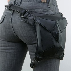 Steampunk - gothic - waist & leg leather bag