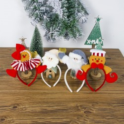 Girl's headband with Christmas decorations