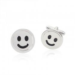 Smiling face - cufflinks