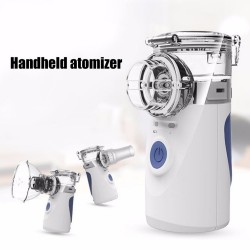 Portable ultrasonic nebulizer - mini handheld inhaler - air humidifier - atomizer - set