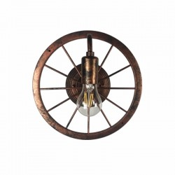 Vintage industrial wheel - wall lamp