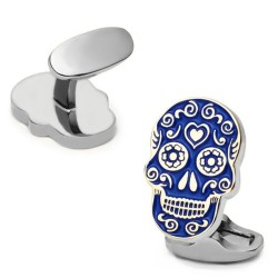 Classic cufflinks with blue skull