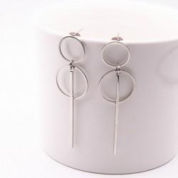 Fashionable punk style long earrings