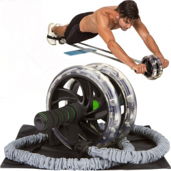 Resistance rope for Ab roller wheel - abdominal trainer