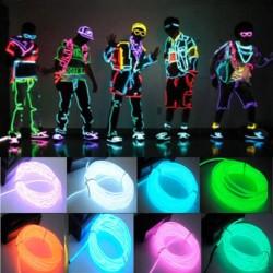 Flexibele neon LED-lichtdraad 3 m - werkt op batterijen