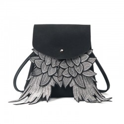 Fashion backpack with angel wings