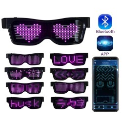 Bluetooth - Led party glasses - app control - USB