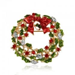 Kerst maretak krans - broche