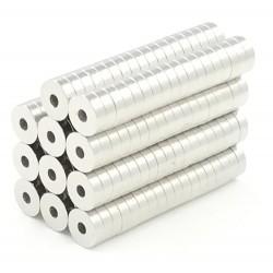 N50 Neodym-Ringmagnete 5 * 1.5 * 1.5 mm 50 Stück