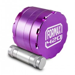Aluminium grinder with pollen presser - 4 layers filter for tobacco and herbs