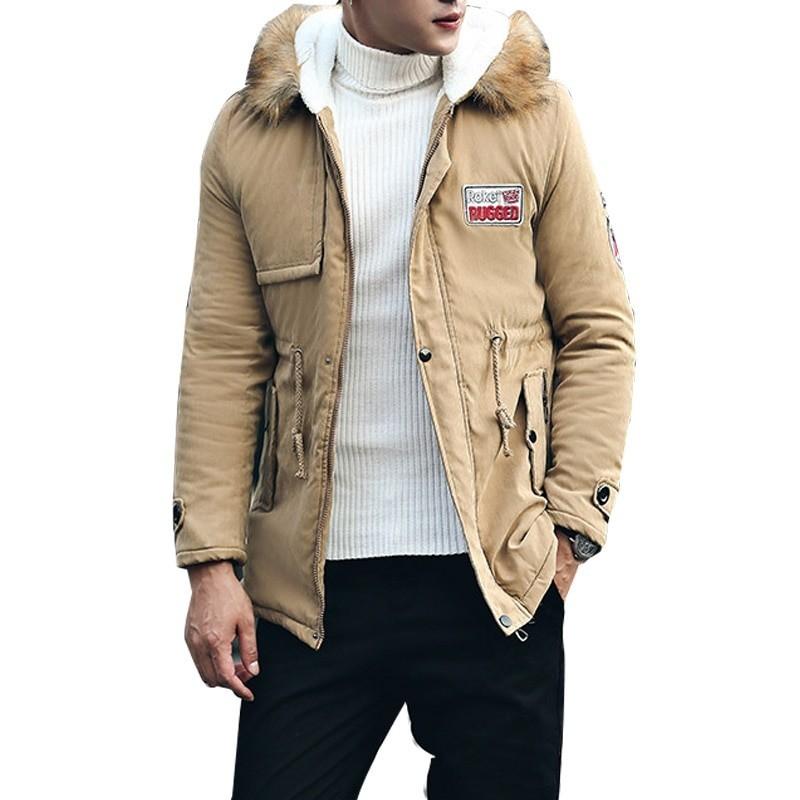 Winter hooded jacket - warm - slim