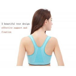 Professional fitness bra - vest with push up & zipper