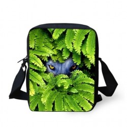 Animals in leaves - small crossbody bag