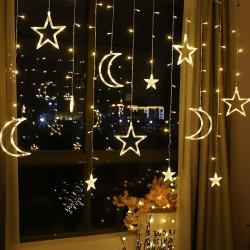 Moon & stars - Led lights string - Christmas decoration - 110V - 220V