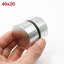 N35 N52 neodymium magnet - strong round metal magnet 40 * 20mm 2 pieces