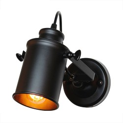 Retro - iron wall lamp - 180° rotatable - E27