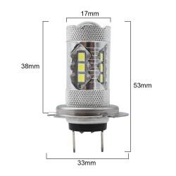 Car fog light - LED bulb - H1 H4 H3 H13 H16 1156 9005 9006 - headlight light - 12V