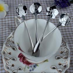Dekorativer silberner Teelöffel - Kaffee & Desserts 5 Stück