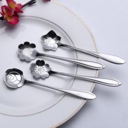 Decorative silver teaspoon - coffee & desserts 5 pieces