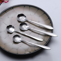 Decorative silver teaspoon - coffee & desserts 5 pieces