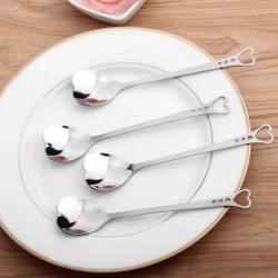 Herzförmige Edelstahl Teelöffel für Tee & Kaffee & Desserts 10 Stück