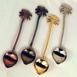 Royal vintage teaspoon with coconut tree for tea - coffee & desserts