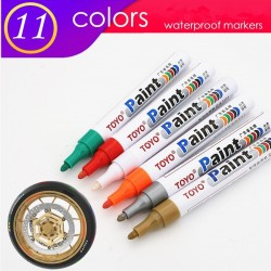 Permanent marker for car tire - waterproof