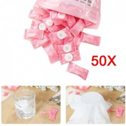 Compressed travel towel - cotton 50 pieces